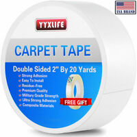 YYXLIFE Double Sided Carpet Tape for Area Rugs Carpet Adhesive Rug Gripper 20YD