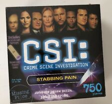 CSI Jigsaw Mystery Puzzle Crime Solve 750Piece Stabbing Pain Investigation Game
