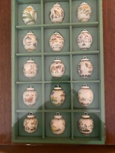 Hutschenreuther Mini-Eier Set 1985-1999, Ostern, Sammlung, Rarität