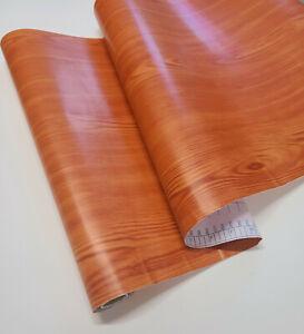 9ft Golden red Oak Wood Grain Shelf liner contact paper self adhesive