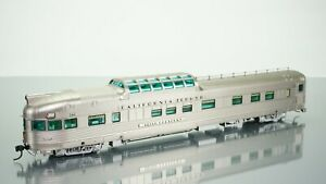 Broadway Limited California Zephyr WP Dome Observation Silver Crescent HO scale