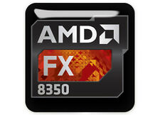 "AMD FX 8350 1""x1"" Chrome Domed Case Badge / Sticker Logo"