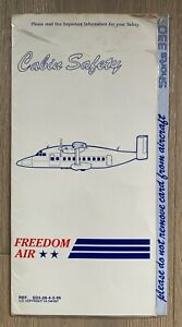 FREEDOM AIR SHORTS 330 SAFETY CARD 1992