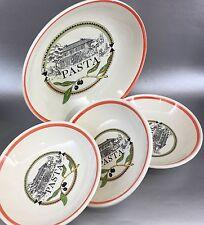 Set Of 4 Himark Italy Pasta Serving Mixing Bowl Salad Italian Vintage HiMark