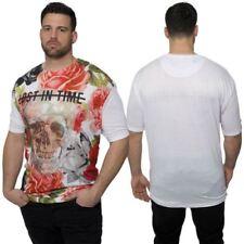 Camicie casual e maglie da uomo floreale con girocollo