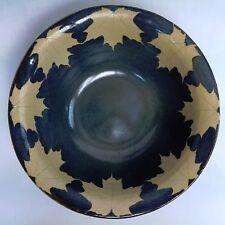 Kleidoscope Pottery of Massachusetts Large Leaf Motif Stoneware Serving Bowl