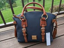 Dooney & Bourke Midnight Blue Pebble Domed Bristol Satchel