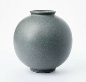 """10""""x10"""" Round Earthenware Vase Gray Threshold Studio McGee Target New Sold Out."""