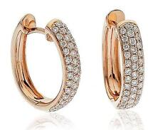 0.70ct F vs Diamante Pendientes De Aro 18ct Oro Rosa para orejas perforadas