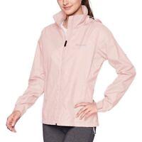 COLUMBIA Switchback III lightweight hooded women's rain jacket Pink 2X Plus size