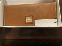 dooney and bourke brown leather wallet