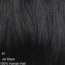 """One Piece Full Head Hair Extensions Clip In Human Hair Extensions 18"""" 100g 120g"""