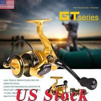 GT1000-7000 5.1:1/4.7:1 Metal Spool Spinning Fishing Reel Wheel 13 1BB Saltwater