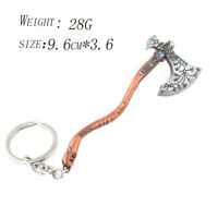 God of War 4 Keychain Kratos Ice Weapon Leviathan Axe Pendant Metal Key Ring