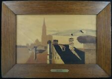 """Charles Spindler Marquetry Wood Inlaid -Strasbourg Germany. 11 5/8"""" x 7""""."""