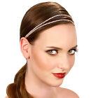 Kristin Perry Dainty Crystal Bridal Rhinestone Chain Headpiece Headband