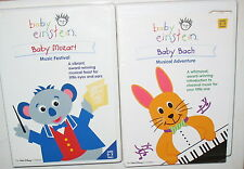 LOT OF 2 - BABY EINSTEIN DVD - AGES 0-3  BABY MOZART &  BABY BACH