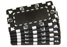 5 pcs Black Rectangular Poker Chips Plaques