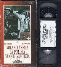 Milano trema La Polizia vuole Giustizia (1973) VHS Nocturno Video Richard Conte