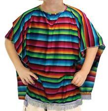 Kids Boys Unisex Mexican Spanish Poncho Fancy Dress Western Cowboy Costume New