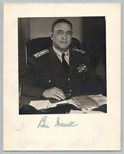 WW2 Naval ADMIRAL BEN MOREELL Vintage SIGNED AUTOGRAPH Photo / US NAVY SEABEES