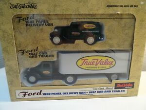 Ertl True Value Hardware 1/43 1932 Ford Panel Van and 1937 Ford Cab & Trailer