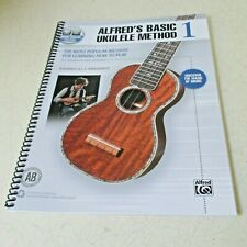 Alfred's Basic Ukulele Method 1 paperback spiral bound book How to Play Nwt