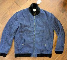 NWT $675 Levi's Made & Crafted Indigo Twill Bomber Jacket 3/L/52/42 New Blue