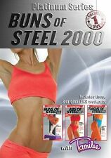 TAMILEE WEBB PLATINUM SERIES BUNS OF STEEL 2000 3 DVD SET NEW SEALED WORKOUT