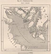Cumberland Sound, isla de Baffin, Canadá. archipiélago ártico canadiense 1885 Mapa