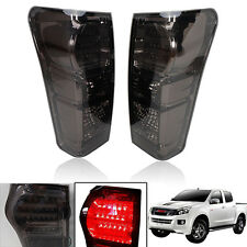 Fits 2012-2014 Isuzu D-Max Dmax Pickup Led Tail Light Lamp Smoke Ute Pair