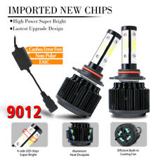 2x 9012 4side LED Headlight Bulb HI LOW BEAM 1800W 270000LM Super Bright CANBus