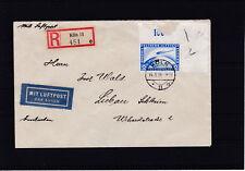 Zeppelin Mi. Nr. 423 auf Reco Flugpostbrief ECHT gelaufen 1936