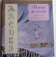 livre neuf -  POINT DE CROIX - ALPHABETS ET ABECEDAIRES par F. CRESTIN BILLET