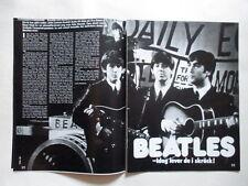 Beatles Lennon McCartney Soft Cell Almond Gerber Bowie Sandelin clippings Sweden