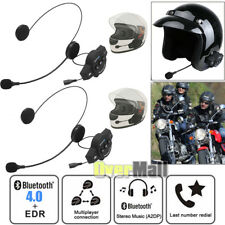 2xRechargeable Motorcycle Bluetooth 4.0+EDR Helmet Intercom FM Radio BT8 Headset