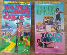 Richard Simmons VHS Lot of 2 - Workout Aerobic Vintage Tonin Uptown Dance Pants