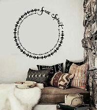 Vinyl Wall Decal Free Spirit Ethnic Style Room Decoration Stickers (ig4661)