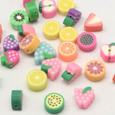 Fruit Beads Assorted Colors 7-12mm Polymer Clay Beads Bulk Beads Wholesale 20 pc