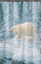 Shower Curtain Artic Arrival Polar Bears Fabric