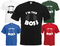I'm The Boss Funny T Shirt Comedy Gift Tee Joke Top Xmas Secret Santa Present