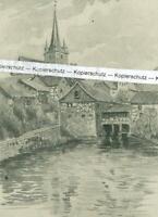 Scherneck im Itzgrund - Zeichnung von Rädlein um 1920    W 15-3