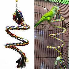 Bird Perch Standing Cage Chew Peck Parrot Parakeet Pet Rope 2018 Conure Toy