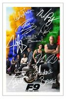 182787 Fast and Furious 7 Cast Signed Decor WALL PRINT POSTER DE