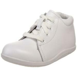 Stride Rite Elliot White Leather Sneakers Shoes 6.5 Wide (E) Toddler BHFO 0138