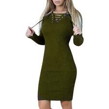 Winter Dress Vestidos Warm Women Slim Bodycon Long Sleeve Evening Party Pencil