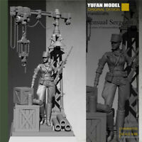 1/35 WWII Female Sniper Resin Model Kits Unpainted YuFan Base included