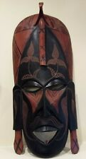 Wooden Hand Carved African Tribal Mask- Jambo Kenya