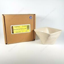 Longaberger Pottery Woven Traditions Small Twisted Dish, Ivory, Brand New!
