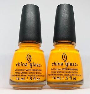 China Glaze Nail Polish Sun Worshiper 874 Brightest Opaque Orange Creme Neons